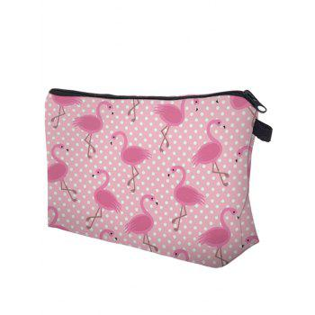 Animal Print Makeup Bag -  ROSE RED