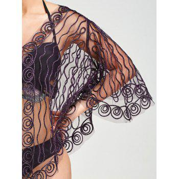 Beach Rope Embellished Sheer Lace Cover Up - ONE SIZE ONE SIZE