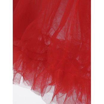 Ruffles Light Up Tutu Voile Cosplay Jupe - Rouge ONE SIZE
