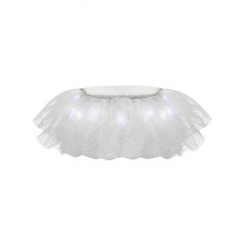 Tier Mesh Light Up Ballet Cosplay Skirt - WHITE ONE SIZE