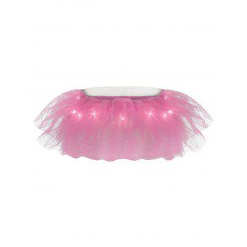 Tier Mesh Light Up Ballet Cosplay Jupe - Rose Clair ONE SIZE