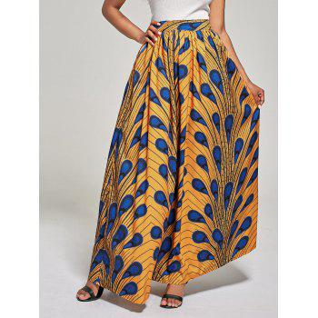 High Waist Printed African Skirt