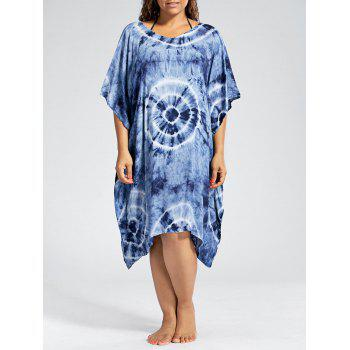 Batwing Sleeve Plus Size Cover Up Dress