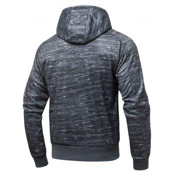 Polar Fleece Zip Fly Hoodie - CHARCOAL GRAY S