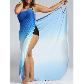 Ombre Plus Size Wrap Cover Up Maxi Dress