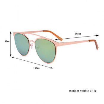 Oversized Anti UV Reflective Sunglasses with Box -  GREEN
