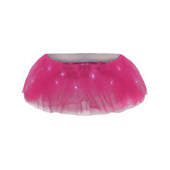 Tier Mesh Light Up Ballet Cosplay Jupe - Rose Foncé ONE SIZE