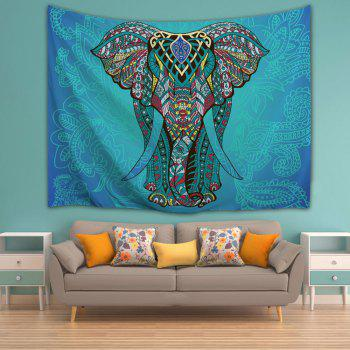 Wall Art Decor Ethnic Elephant Hanging Tapestry - LAKE BLUE W59 INCH * L79 INCH