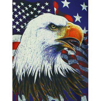 3D Eagle American Flag Print Short Sleeve T-shirt - CADETBLUE 3XL