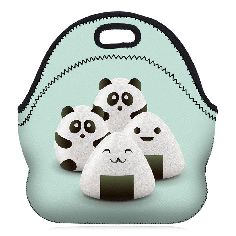 Food Print Lunch Tote Bag - LIGHT GREEN