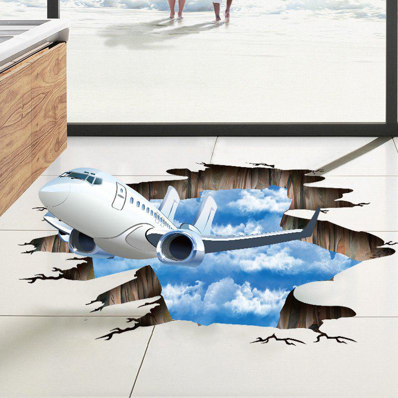 Removable Floor Decor 3D Plane Sky Wall Sticker