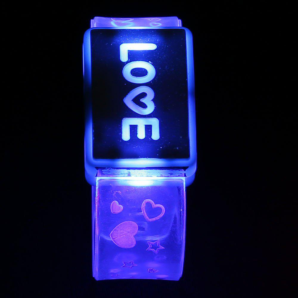 Party Decorated Watch Shape Flash Letter Light - BLUE LOVE