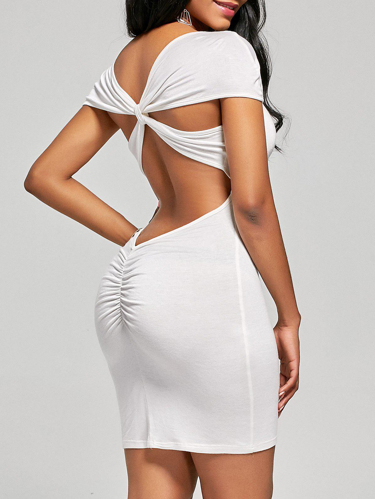 Mini-robe Criss Cross Open Back - Blanc M