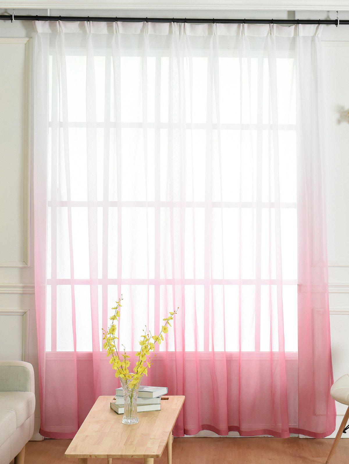 Ombre Sheer Tulle Curtain Decorative Window Screen - PINK W54*L108INCH