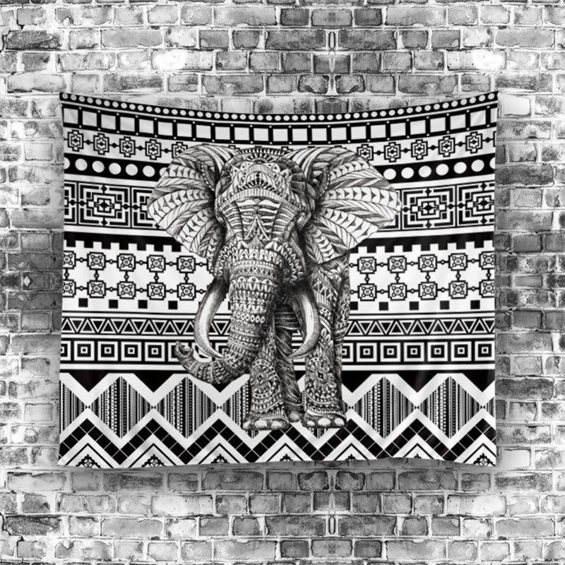 Elephant Geometric Wall Hanging Tapestry - COLORFUL W59 INCH * L79 INCH