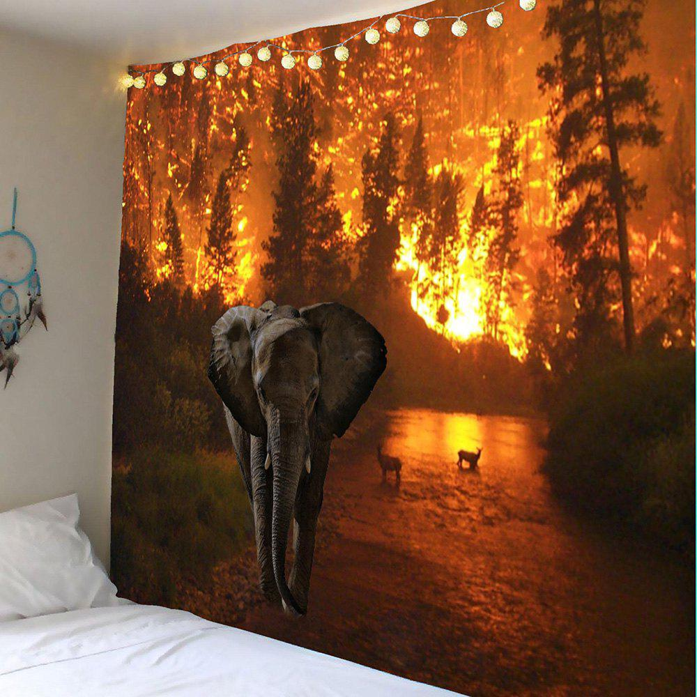 Elephant Fire Forest Wall Hanging Tapestry dickens c a christmas carol книга для чтения
