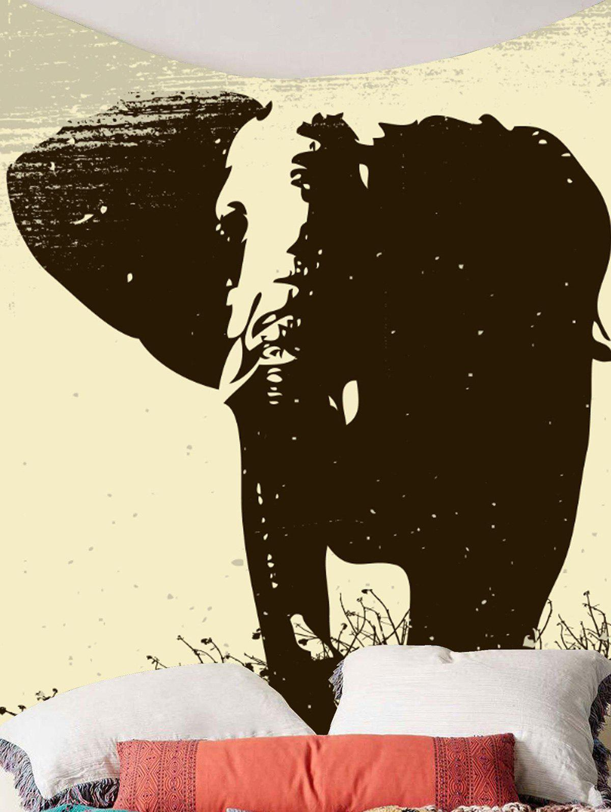Elephant Printed Wall Art Tapestry - GRAY W59 INCH * L79 INCH