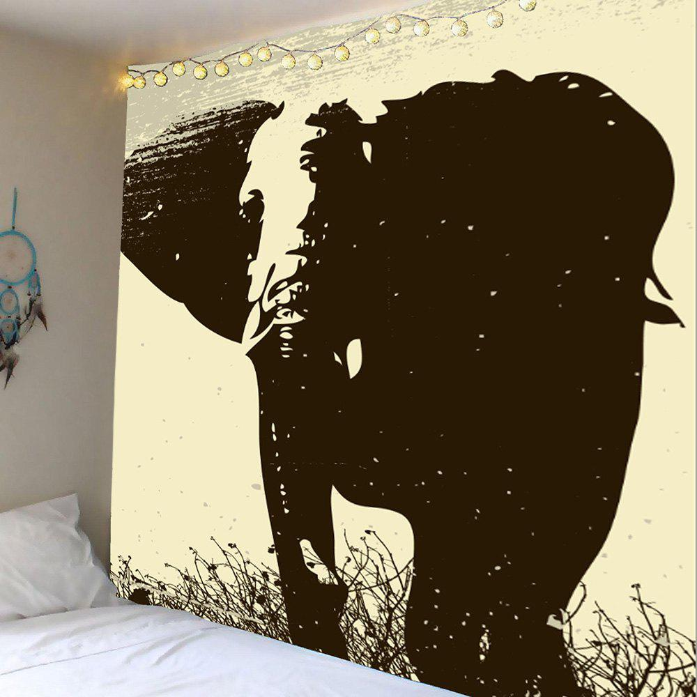 Elephant Printed Wall Art Tapestry