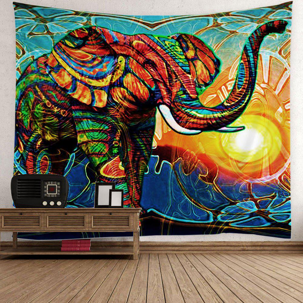 Home decor elephant sunlight wall tapestry colorful w inch l inch in wall tapestries Colorful elephant home decor