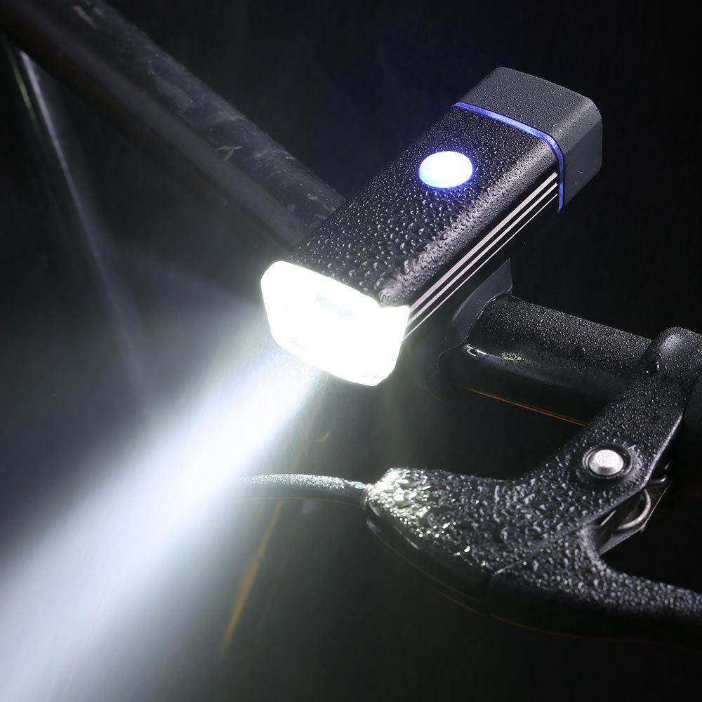 Outdoor Sport Aluminum USB Rechargeable Bicycle Light - BLACK