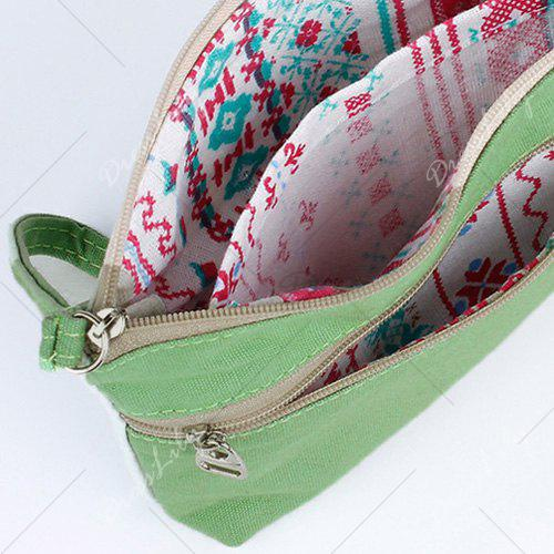 Cartoon Print Canvas Wristlet - GOLDEN