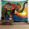 Home Decor Elephant Sunlight Wall Tapestry - COLORFUL W59 INCH * L79 INCH