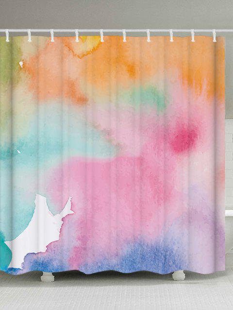 Watercolor Extra Long Bathroom Decor Shower Curtain