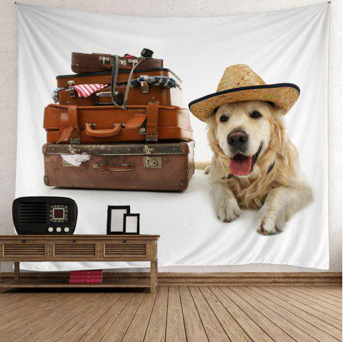 Suitcase Dog Print Wall Hanging Tapestry - COLORFUL W59 INCH * L59 INCH