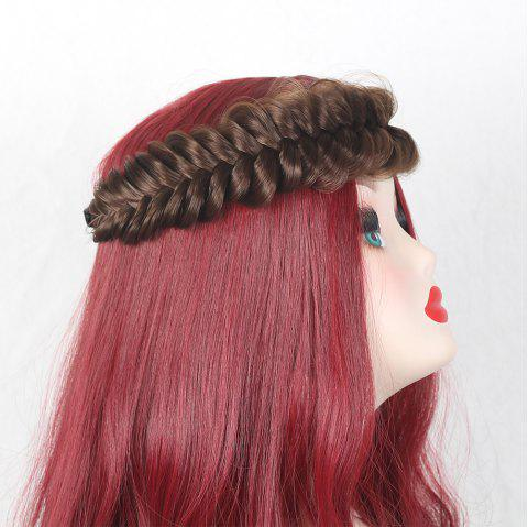 Large Plaited Headband Hair Extension - MEDIUM BROWN