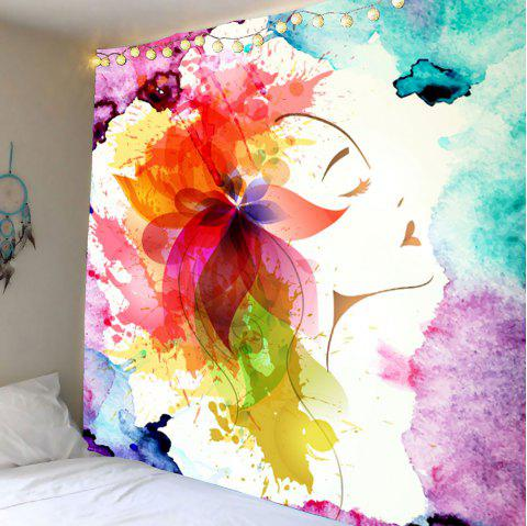 Oil Painting Floral Wall Hanging Tapestry - COLORFUL W79 INCH * L71 INCH