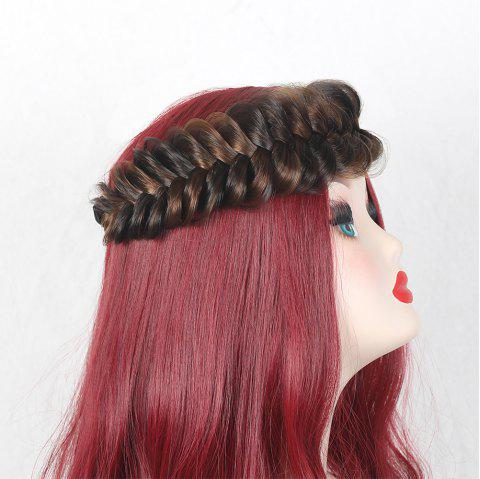 Colormix Large Plaited Headband - BLACK/BROWN