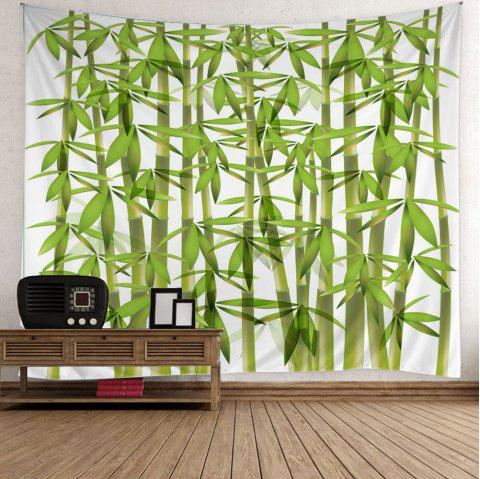 Bamboo Print Wall Art Tapestry - GREEN W59 INCH * L59 INCH