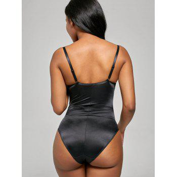Underwire Push Up Corset Bodysuit - BLACK XL