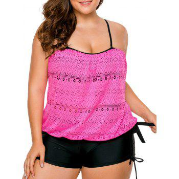 Plus Size Boyshorts Blouson Tankini Set