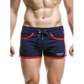 Drawstring Panel Design Graphic Print Home Shorts