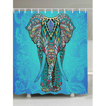 Elephant Flower Fabric Shower Curtain