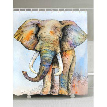 Elephant Waterproof Shower Curtain