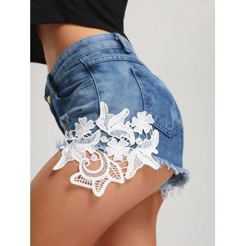 Ripped Frayed Hem Denim Mini Shorts