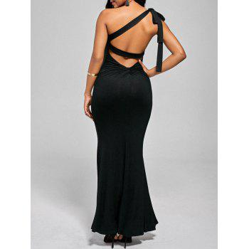 One Shoulder Open Back Maxi Dress