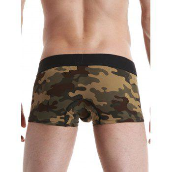 Graphic Camouflage Convex Pouch Trunk - ARMY GREEN CAMOUFLAGE ARMY GREEN CAMOUFLAGE