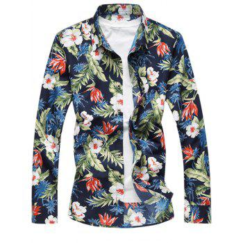 Tropical Floral Print Casual Shirt