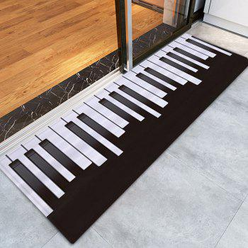 piano pattern indoor outdoor area rug, black white, w inch l inch