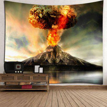 Nature Volcano Erupting Wall Hanging Tapestry - COLORFUL W59 INCH * L51 INCH