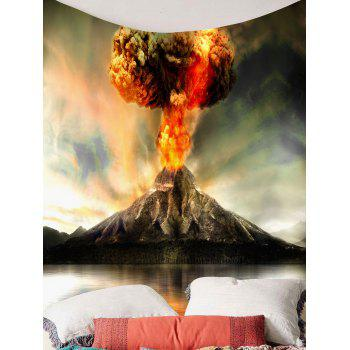 Nature Volcano Erupting Wall Hanging Tapestry - COLORFUL W79 INCH * L59 INCH