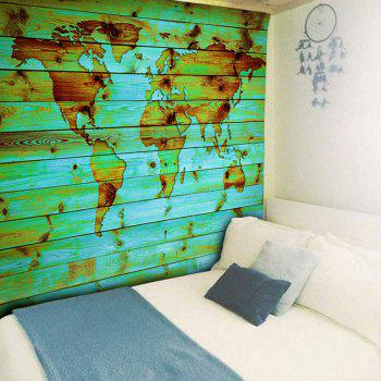 Decorative Wall Hanging World Map Print Tapestry - GREEN W51 INCH * L59 INCH