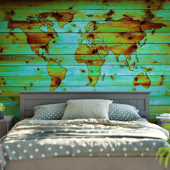 Decorative Wall Hanging World Map Print Tapestry - GREEN W59 INCH * L79 INCH