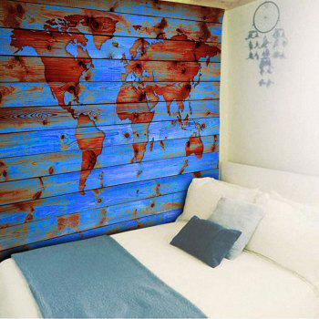 Decorative Wall Hanging World Map Print Tapestry - LAKE BLUE W51 INCH * L59 INCH