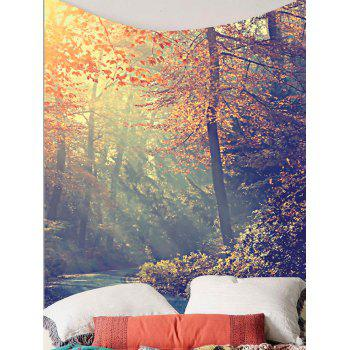 Forest Maple Tree Leaves Wall Art Tapestry - COLORFUL W59 INCH * L59 INCH