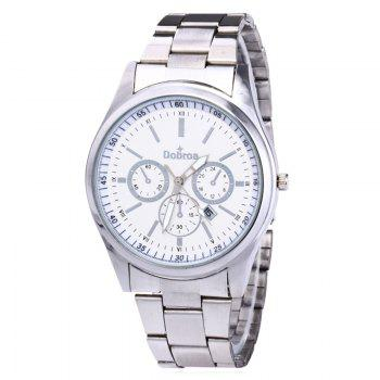Alloy Strap Date Number Watch - SILVER WHITE SILVER WHITE