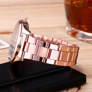 Alloy Strap Date Number Watch - ROSE GOLD